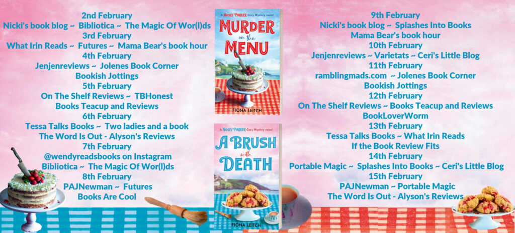 Nosey Parker Cosy Mystery Series Full Tour Banner